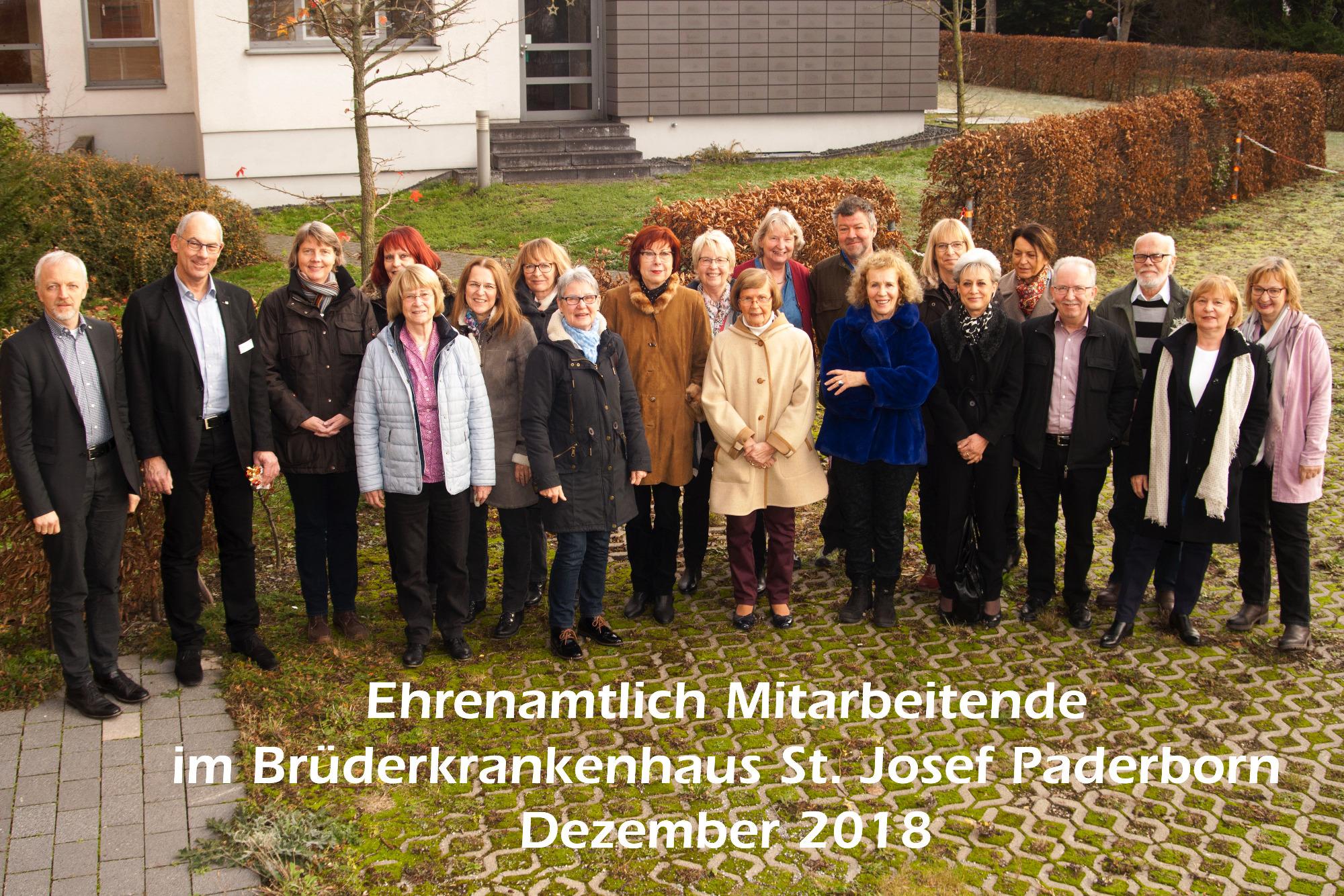 Ehrenamtliche Dienste Brüderkrankenhaus St Josef Paderborn
